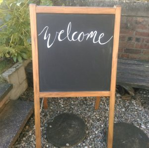 Wedding welcome sign chalkboard art tayside