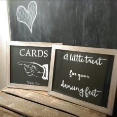 chalkboard sign wedding hire fife