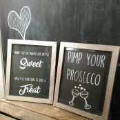 chalkboard sign wedding hire dundee