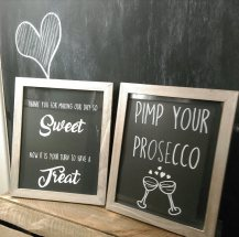 chalkboard sign wedding hire dundee