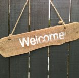 Welcome sign wedding prop hire fife