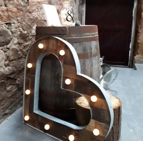 wedding lighting hire barn fife