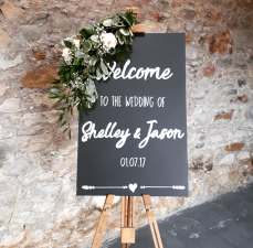 Custom Welcome Chalkboards - Hire Cost £15