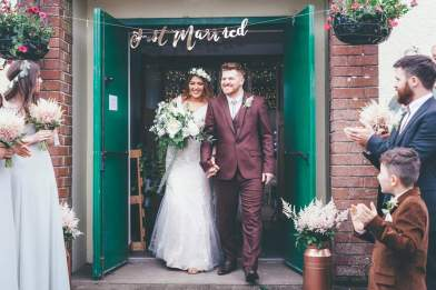 village hall wedding stylist fife