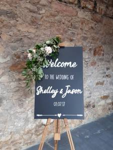 welcome chalkboard fife scotland