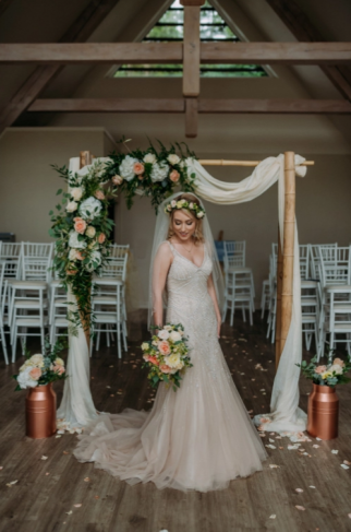 copper wedding decor hire dundee