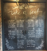 barn wedding chalkboard tayside