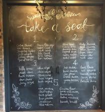 barn wedding chalkboard tayside