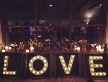 barn wedding lighting hire perthshire