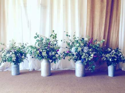 barn wedding styling fife churns hire