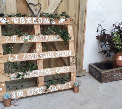 barn wedding decor fife scotland