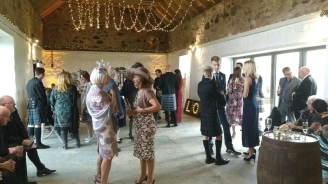 barn wedding rustic love lights scotland