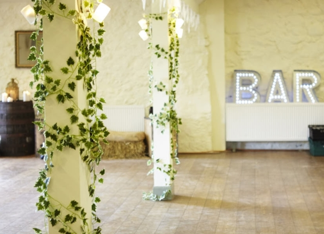 Perthshire wedding barn prop hire