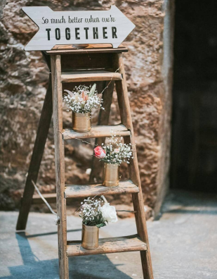 rustic ladder wedding hire perthshire fife