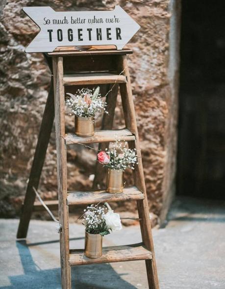 rustic ladder wedding hire perthshire fife