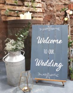 kinkell byre wedding styling props