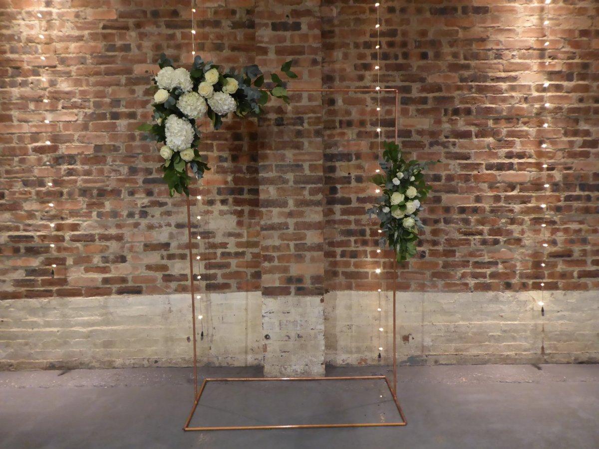 copper wedding arch hire scotland