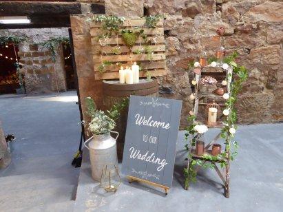 barn wedding prop & style fife perthshire