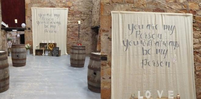 wedding script wall hanging hire scotland