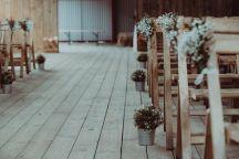 Scottish barn wedding props decor hire
