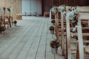 Scottish barn wedding props decor hire