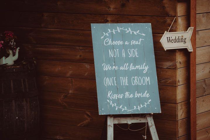 Ayr barn wedding prop style