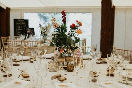 Myres Castle table decor