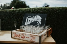 Myres castle wedding lemonade stand