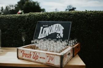 Myres castle wedding lemonade stand
