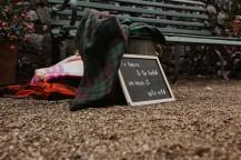 Myres Castle wedding props blankets