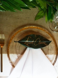 Wedding table decor idea scotland