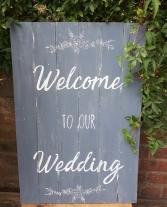 welcome wedding sign hire aberdeen glasgow