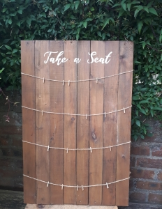 rustic wood wedding table plan hire fife perthshire