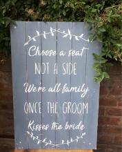 rustic barn wedding sign hire fife perthshire scotland