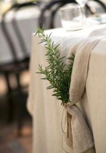 Wedding foliage idea scotland