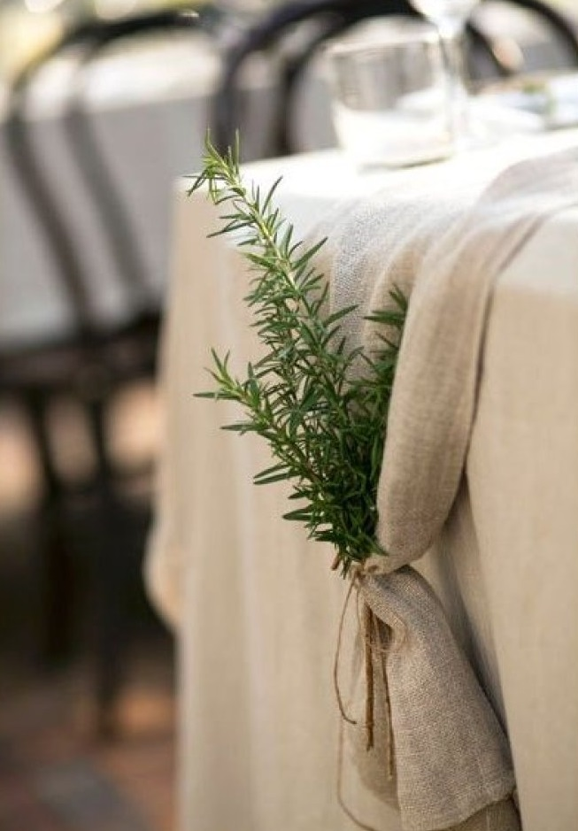 Wedding foliage idea scotland