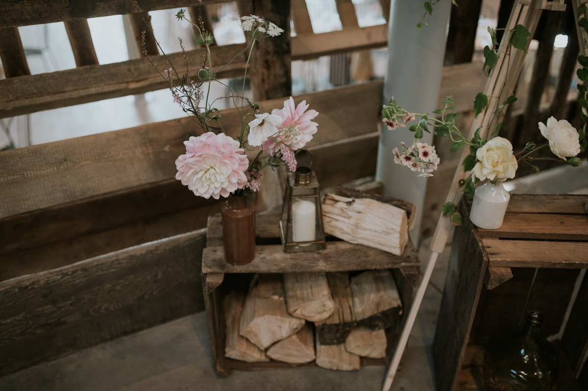perthshire scotland barn wedding decor