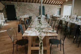 barn wedding scotland table decor