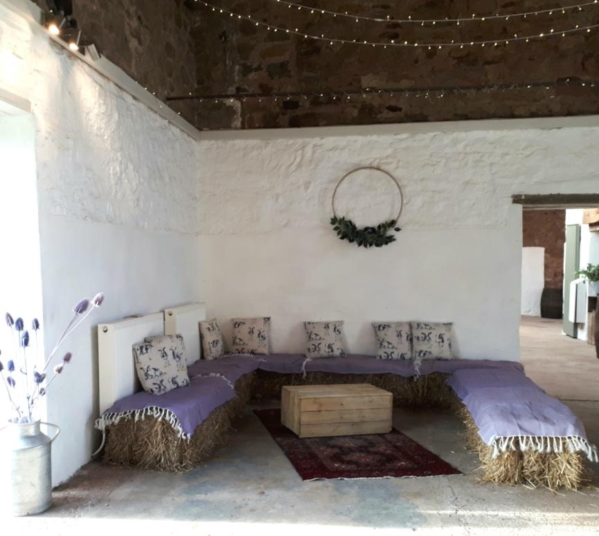 Hay bale wedding hire fife perthshire scotland