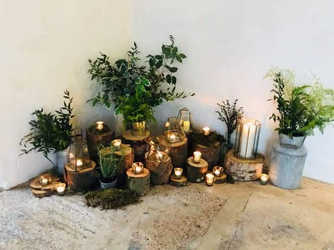 log display wedding barn hire fife