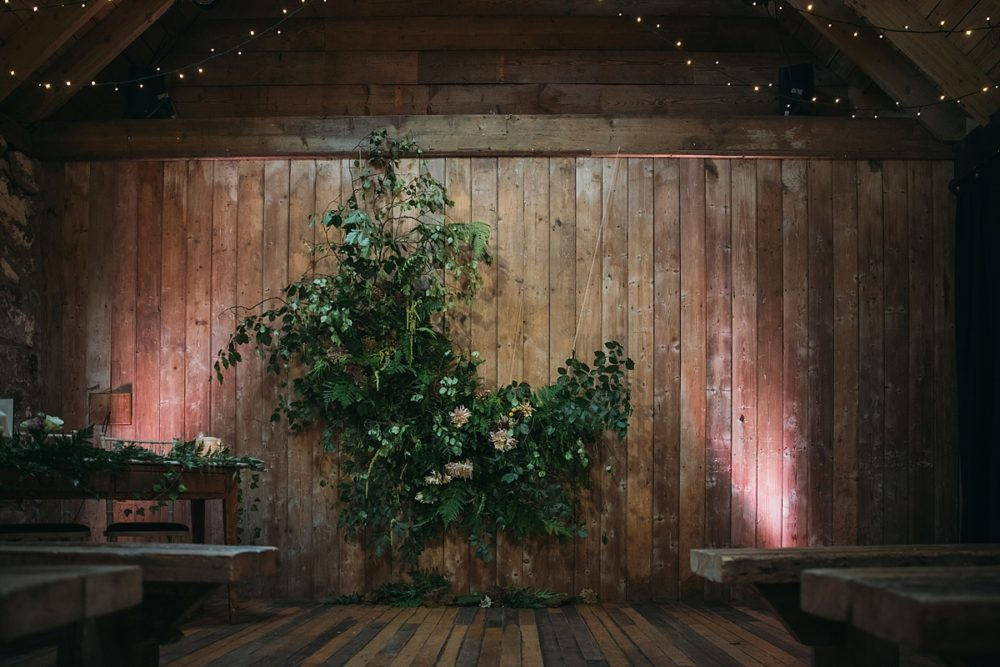 barn wedding decor hire perthshire scotland