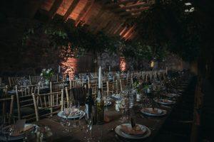 rustic wedding table decor scotland