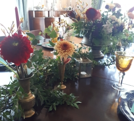 Brass bud vases (18 available) - Hire Cost £1 each