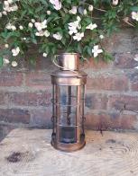 Copper nautical lantern (plain) - Hire Cost £2
