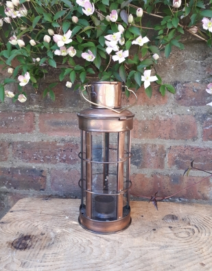 Copper nautical lantern (plain) - Hire Cost £2