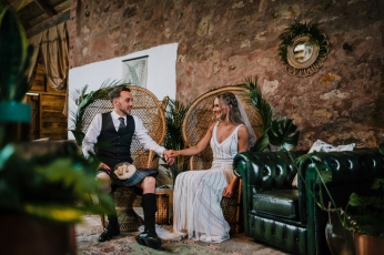 cow-shed-crail-wedding-becca-andy-peacock-chairs-hire