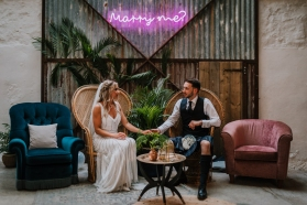 cow-shed-crail-wedding-neon-peacock-chairs-scotland