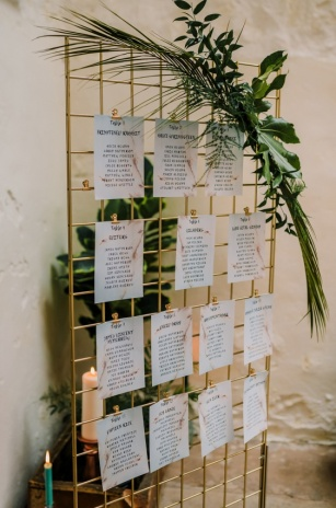 modern table plan hire scotland