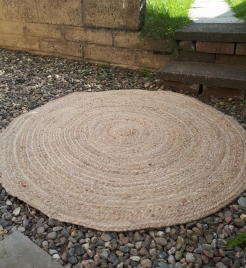 Jute Rug (100cm) - Hire Cost £10
