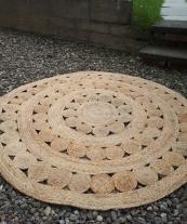 Jute Rug (120cm) - Hire Cost £12